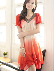Women's Dresses , Chiffon Casual/Work SPECIAL