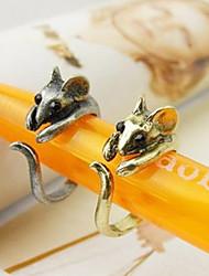 coréenne mignonne petite souris anneau des femmes (couleur aléatoire)