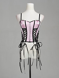 belle lingerie intime rose lycra corset sexy
