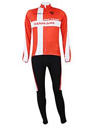 Kooplus2013 Campeonato Jersey Dinamarca (camisa + Bib-calças) de poliéster e Lycra e tecido elástico Ciclismo Suits