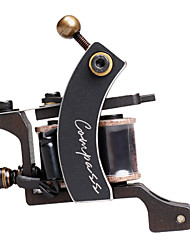 Compass Steel Wire-Cutting Dual Coils 8 Wraps Tattoo Machine Gun for Liner