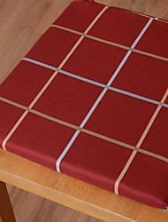 Red 100% Cotton Square Chair Pads