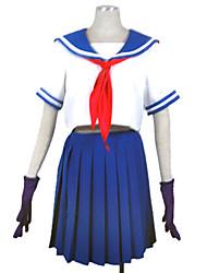 Adorável Sailor Girl Blue manga curta Uniforme Escolar