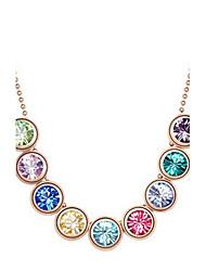 Нежный сплав с Rhinestone ожерелья женщин (больше цветов)