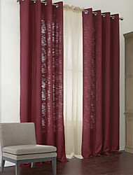 Two Panels Modern Bloom of Life Energy Saving Curtains Drapes with Sheer Set