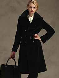 Women's Coats & Jackets , Polyester Sexy/Party/Work GENIAL