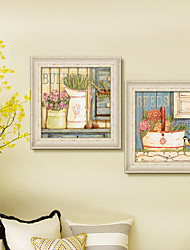 Still Life Framed Canvas / Framed Set Wall Art,PVC No Mat With Frame Wall Art
