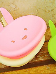 Rabbit Shaped Plastic Portable Soap Box(2 PCS Random Color)