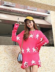 Frauen Red Star Pattern Plus-Freisteller Coat
