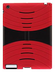 Defender Series Rugged Auswirkungen Hard Case mit Silikon-Mantel und Ständer für iPad 2/3/4