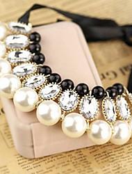 Mode runden Kristall Halskette