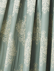 (Two Panels) Michelle Luxury® Neoclassical Grey Jacquard Energy Saving Curtain