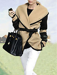 Women'S Autumn Victoria Shawl Large Lapel Personality Wool Coat