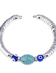 Evil Eye Turquoise Snake Alloy Cuff Bracelet