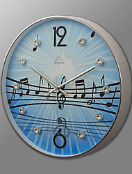 "16""H Modern Musical Note Wall Clock"