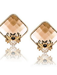 Delicate Alloy With Rhinestone&Crystal Glass Women's Earrings