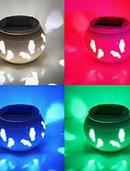 Little Birds Pattern  Hollowed-Out Solar RGB LED Powered Garden Light -Solar Table Light- Solar Small Night Light In Jar Design