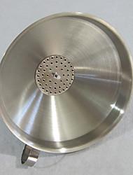 14 centímetros de diâmetro em aço inoxidável Funil