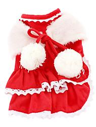 Cães Vestidos Vermelho Inverno Clássico Natal / Ano Novo