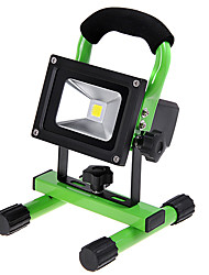 KX-913 Rechargeable Portable 10W 1000lm 6000K LED White Light Flood Lamp - Green (110~240V / DC 12V / 24V)