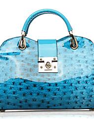 Bleu PU cuir d'autruche de mode ligne brillante Surface Totes Casual OPPO femmes Crossbody