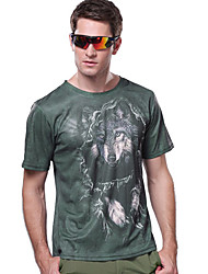 Men's T-shirt Camping / Hiking / Fishing / Climbing / Racing / Leisure Sports / Beach Breathable / Quick Dry / Ultraviolet Resistant