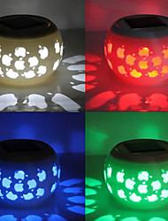 Apple Pattern Hollowed-Out RGB LED Solar Powered Garden Light -Solar Table Light- Solar Small Night Light In Jar Design