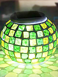 Modern Grid RGB Color-Changing LED Solar Powered Garden Light -Solar Table Light- Solar Small Night Light In Jar Design