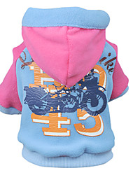 Lovely Motorcycle Pattern Warm Hoody Coat for Pets Dogs (Assorted Sizes)