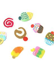 12 цветов 3D Slice Fimo Торт украшения искусства ногтя