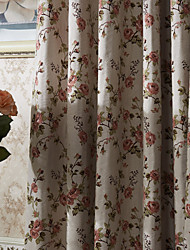 Two Panels  Michelle Luxury® Country Flower Branches Energy Saving Curtain Drape