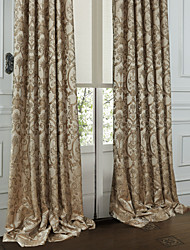 Two Panels Curtain Rococo Bedroom Polyester Material Curtains Drapes Home Decoration For Window