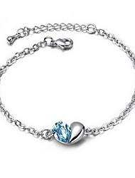 Women's Charm Bracelet Alloy Crystal
