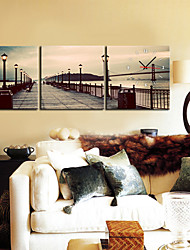 "12 ""-24"" Country Style Luce Orologio da parete in tela 3pcs"