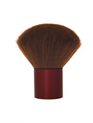 Dark Red Brush Woodiness Handle Blush Brush