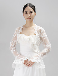 Wedding  Wraps Coats/Jackets Long Sleeve Lace Ivory Wedding / Party/Evening Open Front
