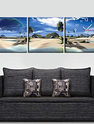 "12 ""-24"" Country Style Holiday Orologio da parete in tela 3pcs"
