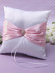 Anel Pillow In Pink cetim com strass e Sash
