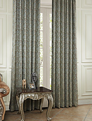 Two Panels  Michelle Luxury® Recoco Flying Leaves Energy Saving Curtain Drape