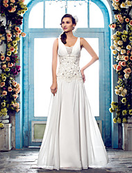 Lanting Bride® Sheath / Column Petite / Plus Sizes Wedding Dress - Classic & Timeless / Elegant & Luxurious Fall 2013 / Spring 2014