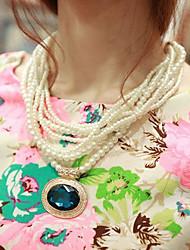 Ashine Elegant Gemstone Pearl Necklace