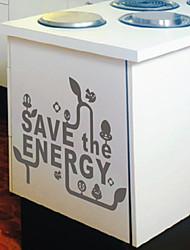 Palavras salvar os adesivos de parede de energia
