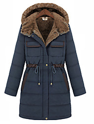 Smile Woman Women's  Draw Cord Woolen Coldproof Cotton Coat