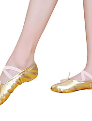 Gold Children & Women's Leatherette Upper Ballet Dance Shoes