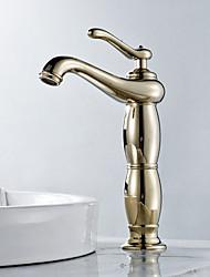 Modern Design Golden Bathroom Sink Faucet