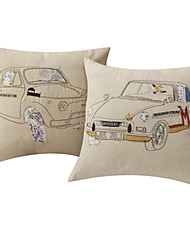 Set of 2 Vivid Second-hand Car Polyester Decorative Pillow Cover
