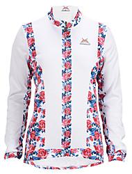 MYSENLAN Fahhrad/Radsport Jacke Damen Langärmelige tragbar / Windundurchlässig / warm halten / Fleece Innenfutter Polyester / VliesWeiß /