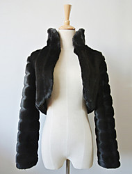 Nice Long Sleeve Faux Fur Evening/Casual Wrap/Evening Jacket Bolero Shrug