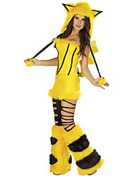 Cunning Fox Bright Yellow Fluffy Apparel Women's Halloween Costume