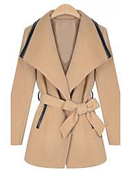 Улыбка Женские элегантные Средний твидовый пиджак